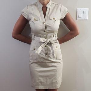 Military style mini dress